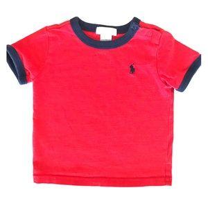 Ralph Lauren Red Jersey Cotton Crewneck T-Shirt